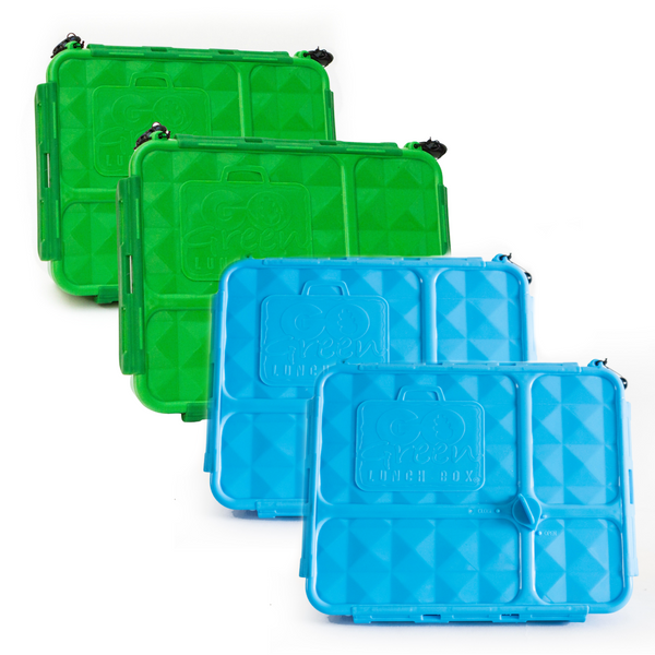 Go Green Lunch Box Bundle - Blue & Green - FREE POST!