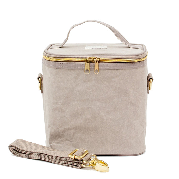 SoYoung Petite Paper Poche Insulated Bag - Stone Grey