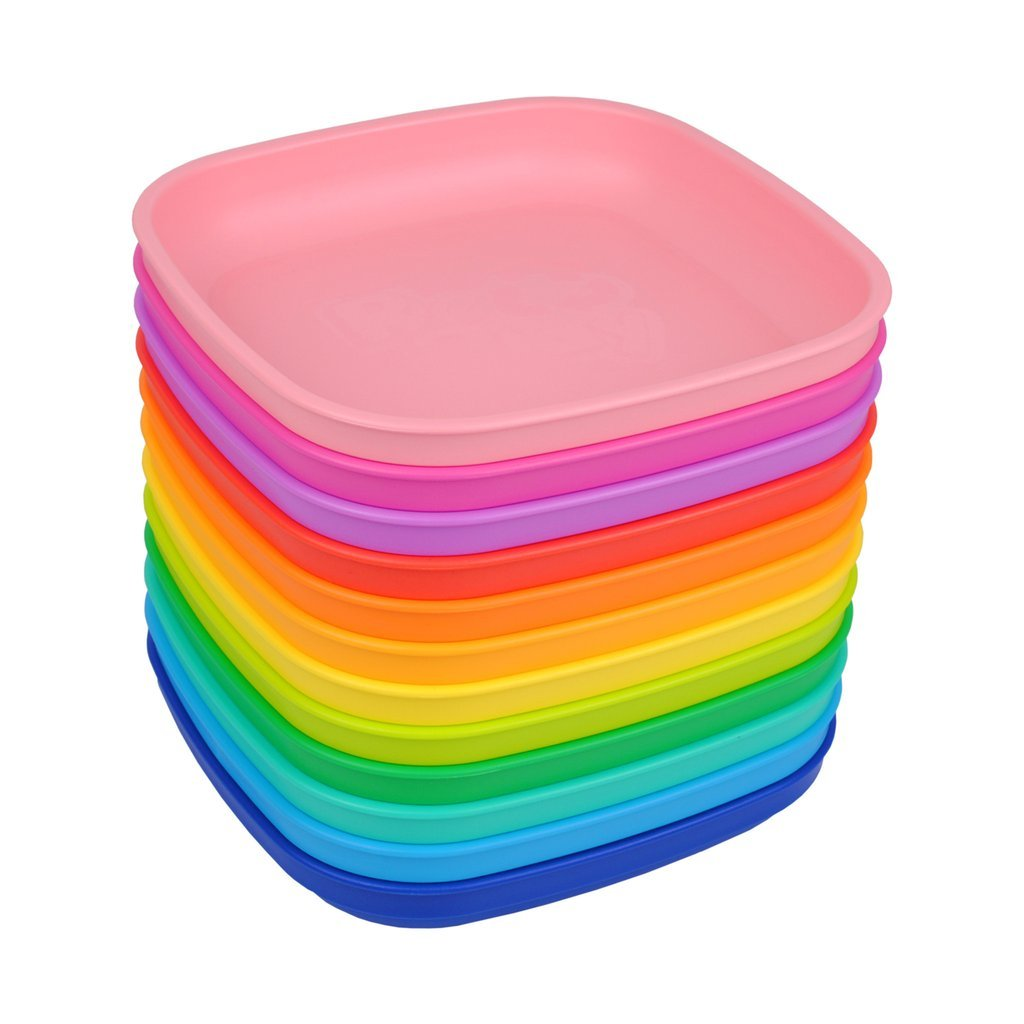 Re-Play Flat Plate Set - 12 Colour Rainbow