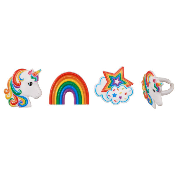 Rainbow Unicorn Food Rings