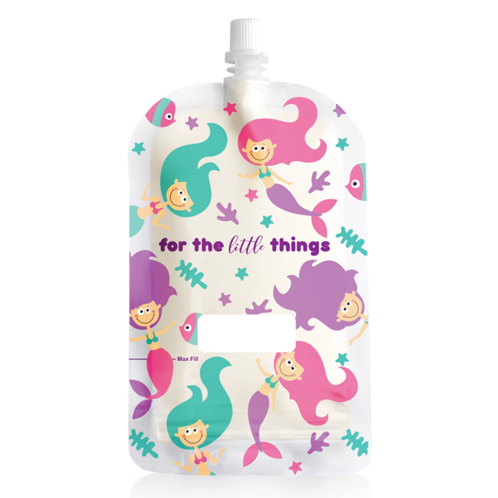 Sinchies Reusable Food Pouch - 10 Pack - Mermaids