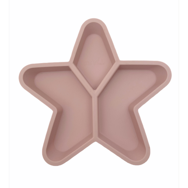 Star Grazer Silicone Divided Plate - Dusty Pink