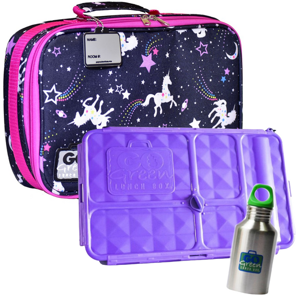 Go Green Lunch Box Set - Unicorn