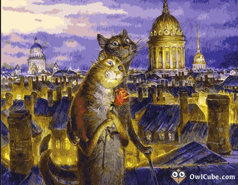 White Nights in Petersburg by Vladimir Rumyantsev - Easy DIY Paint by Numbers Kits - OwlCube Canvas Wall Art-owlcube.com