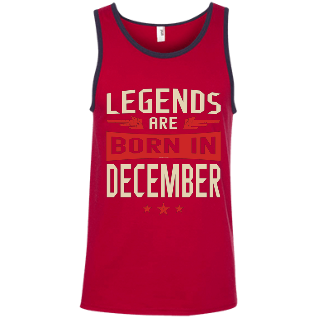 Legends Are Born in December AT0078 100% Ringspun Cotton Tank Top