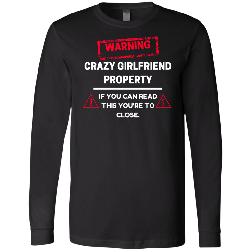 Crazy Girlfriend Property Boyfriend AT0113 3501 Men's Jersey LS T-Shirt - OwlCube - Diamond Painting by Numbers