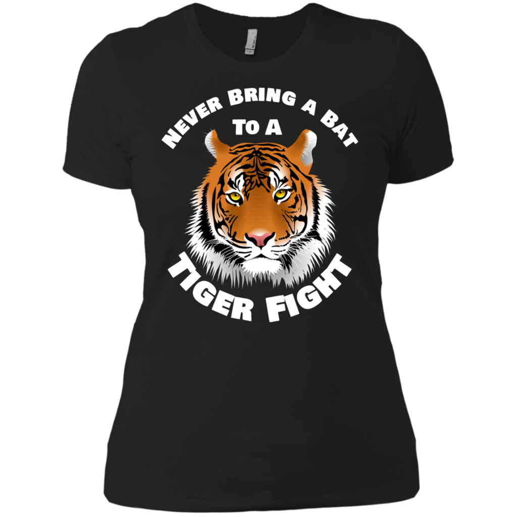 Tiger Never Bring a Bat To A Tiger Fight AT0104 NL3900 Ladies' Boyfriend T-Shirt