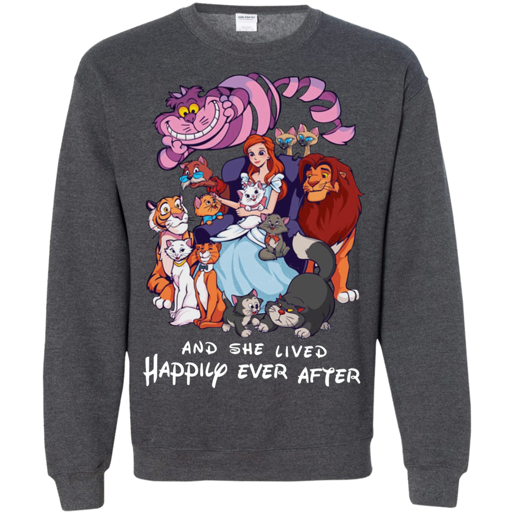 Disney Cats G180 Crewneck Pullover Sweatshirt  8 oz.