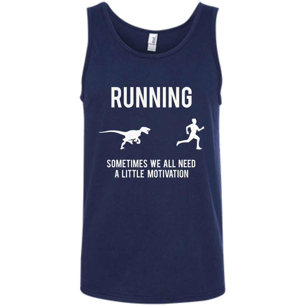 AT0024 Mens Running Motivation Raptor Chase 100% Ringspun Cotton Tank Top - OwlCube - Diamond Painting by Numbers