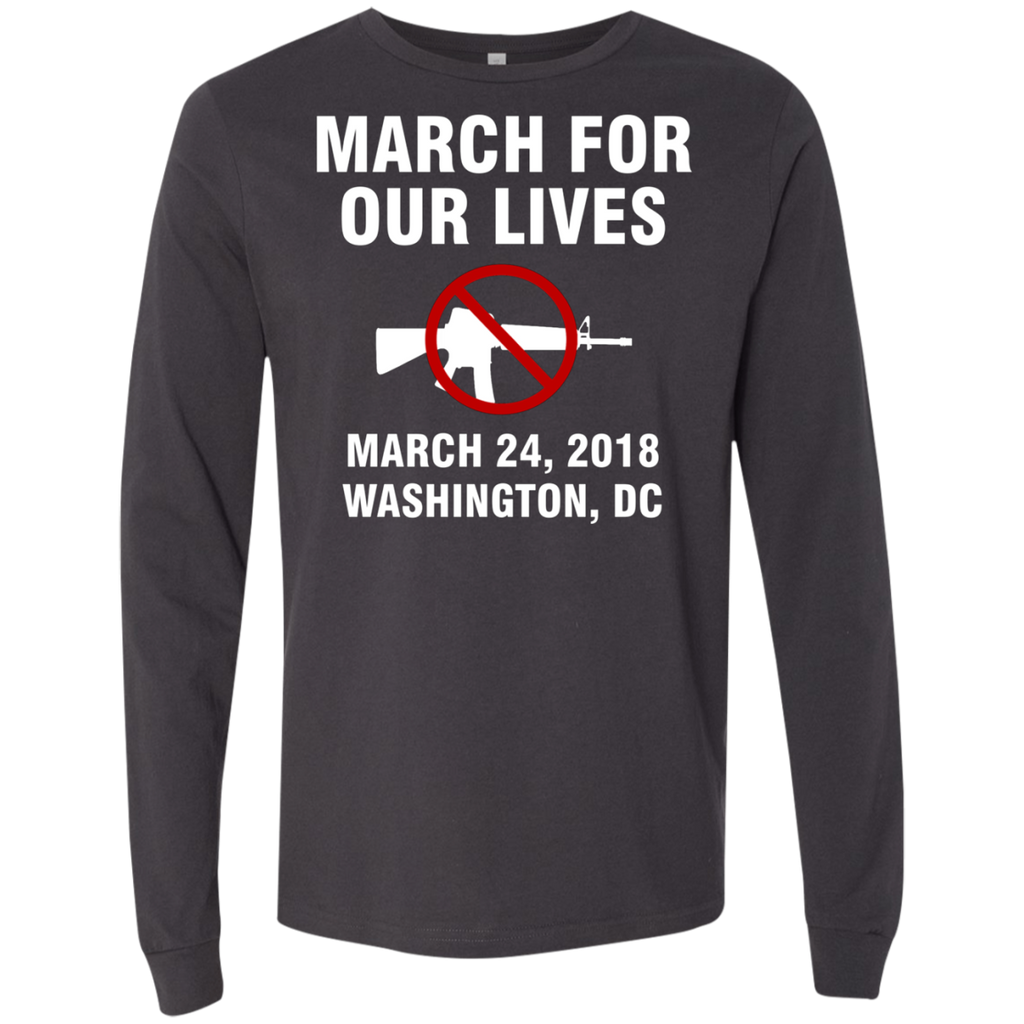 March For Our Lives Washington DC March 24 2018 End Gun Violence AT0088 3501 Men's Jersey LS T-Shirt