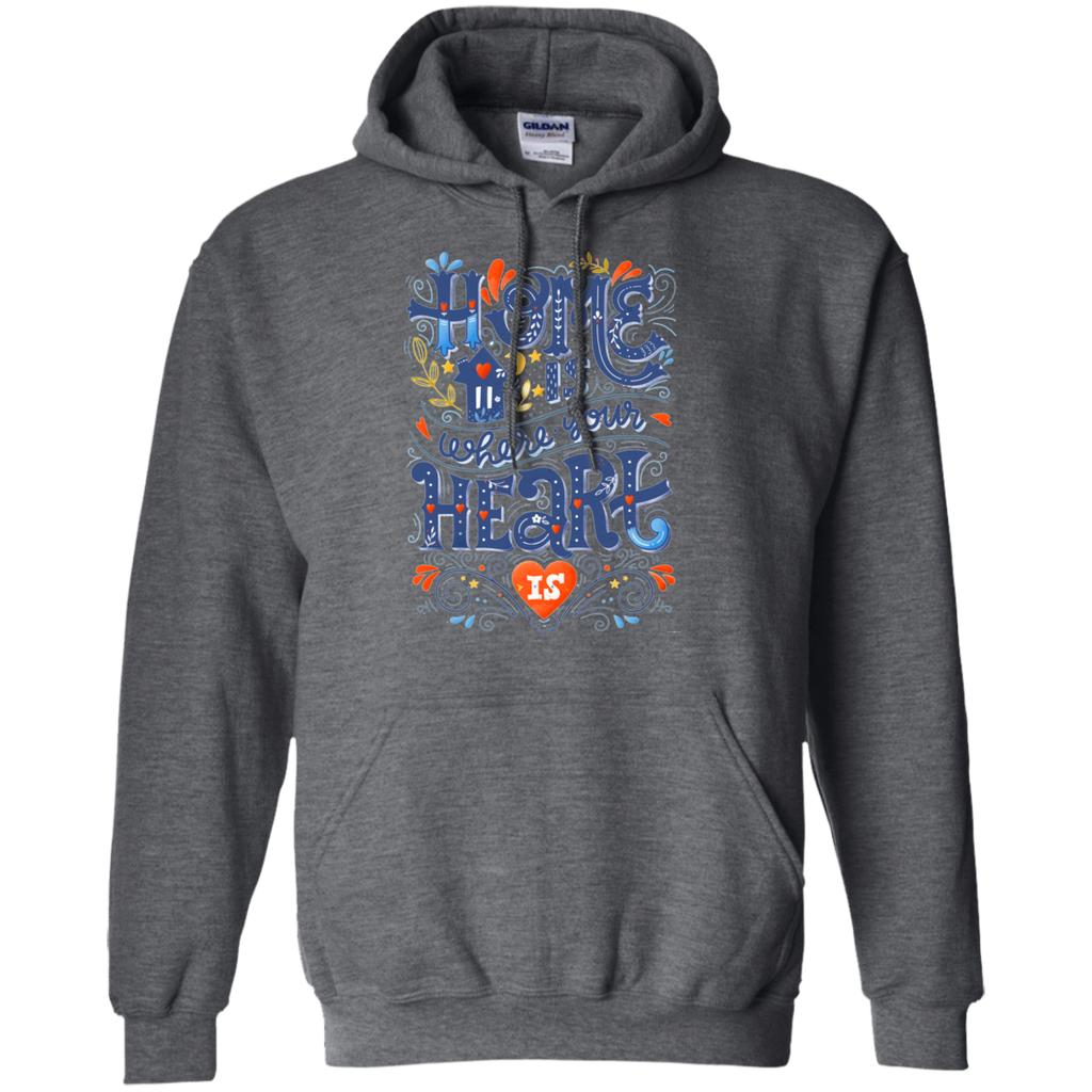 Home is where your heart is AT0103 G185 Pullover Hoodie 8 oz. - OwlCube - Canvas Wall Art