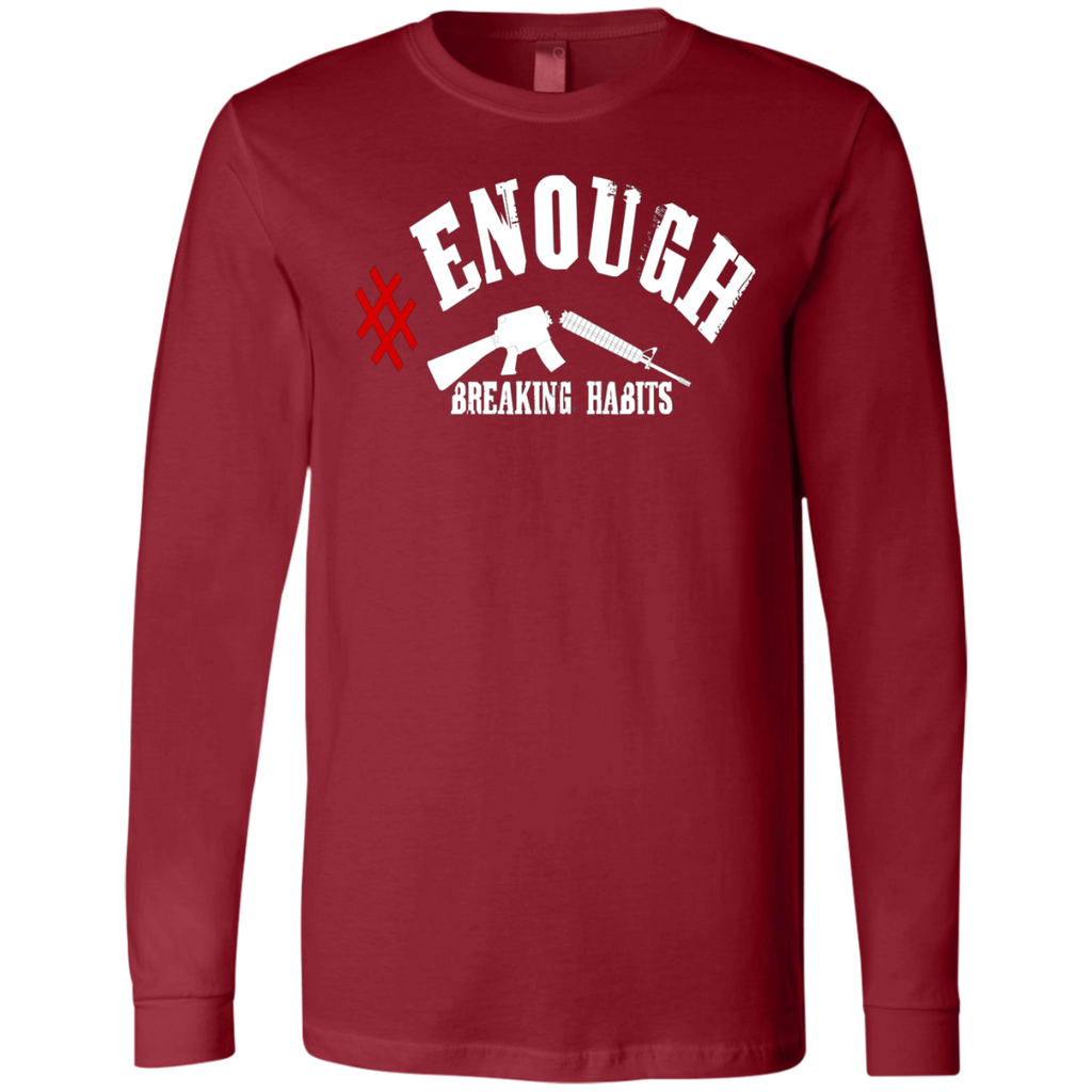 Enough Anti Gun National Walkout Protest AT0105 3501 Men's Jersey LS T-Shirt - OwlCube - Diamond Painting by Numbers