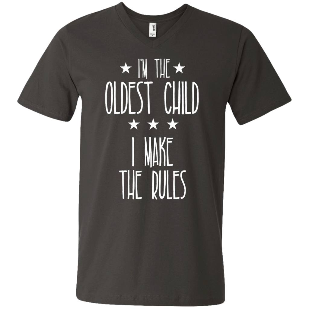 I'm the Oldest Child I make the rules AT0074 982 Men's Printed V-Neck T-Shirt