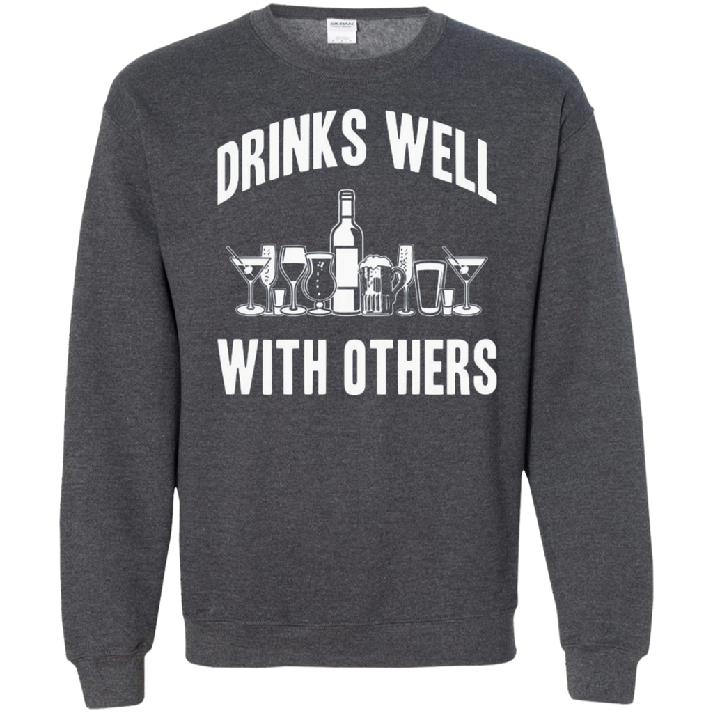 AT0004 Drinks Well With others G180 Crewneck Pullover Sweatshirt  8 oz. - OwlCube - Diamond Painting by Numbers