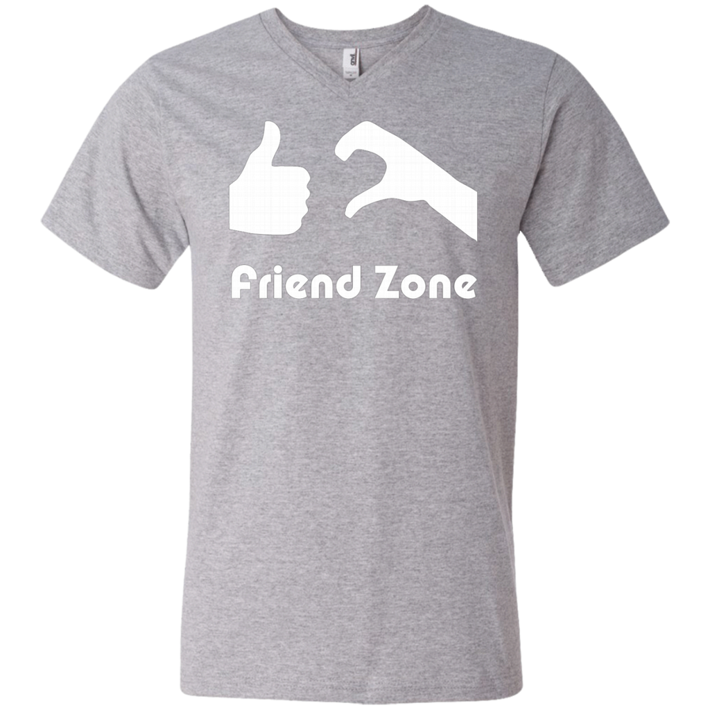 Friend Zone AT0060 982 Men's Printed V-Neck T-Shirt - OwlCube - Diamond Painting by Numbers