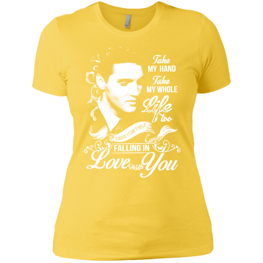 Elvis - Take My Hand Take My Whole Life NL3900 Ladies' Boyfriend T-Shirt
