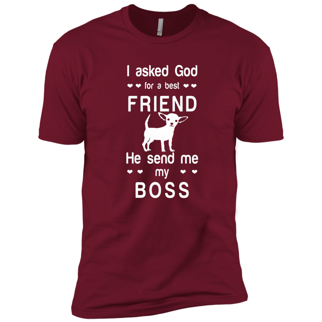 I asked God for a best friend, he send me my boss AT0077 NL3600 Premium Short Sleeve T-Shirt - OwlCube - Canvas Wall Art