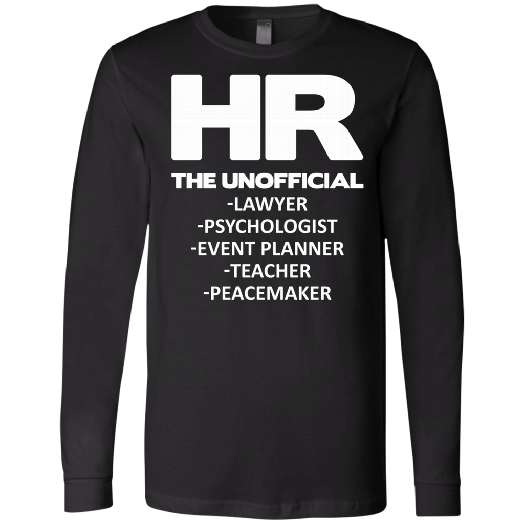 HR THE UNOFFICIAL LAWYER TEACHER AT0066 3501 Men's Jersey LS T-Shirt - OwlCube - Canvas Wall Art