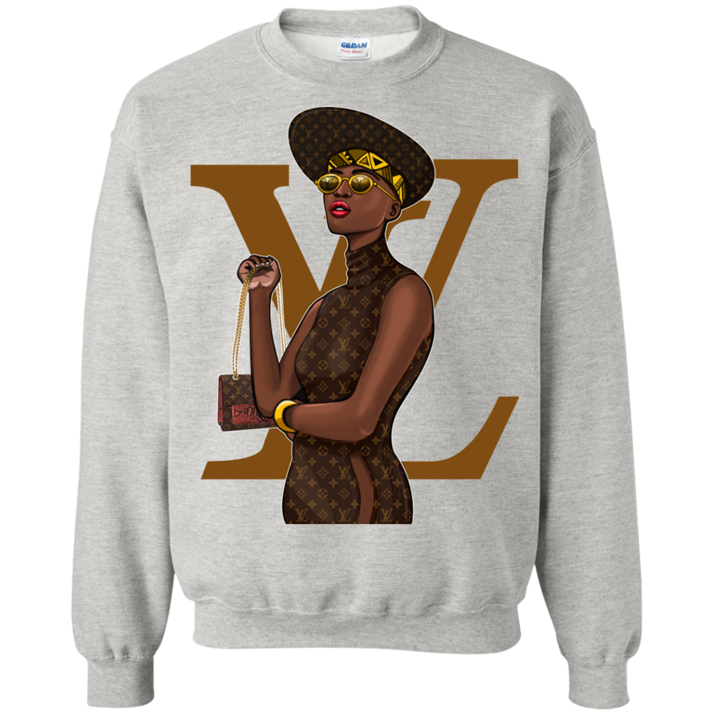 Black Louis Vuitton 2 G180 Crewneck Pullover Sweatshirt  8 oz. - OwlCube - Diamond Painting by Numbers