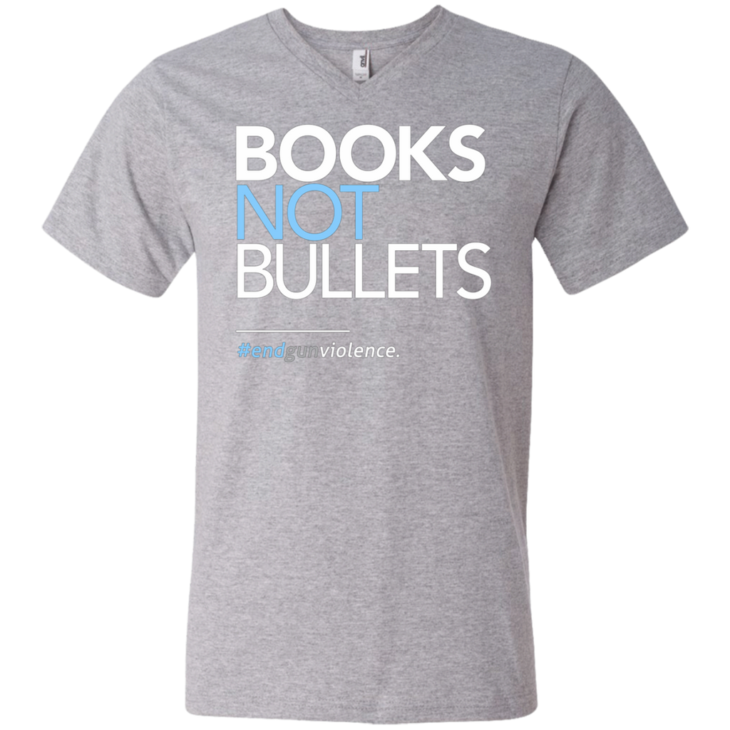 Books Not Bullets, March for Our Lives AT0112 982 Men's Printed V-Neck T-Shirt - OwlCube - Canvas Wall Art