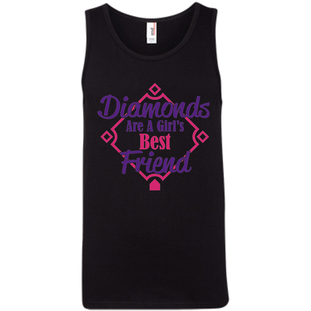 Diamonds Girl best friend AT0081 copy 100% Ringspun Cotton Tank Top - OwlCube - Diamond Painting by Numbers