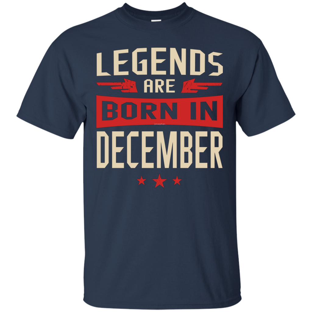 Legends Are Born in December AT0078 G200 Cotton T-Shirt