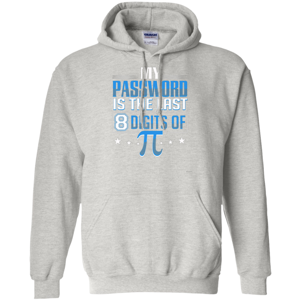 My Password Is The Last 8 Digits Of Pi AT0091 G185 Pullover Hoodie 8 oz.