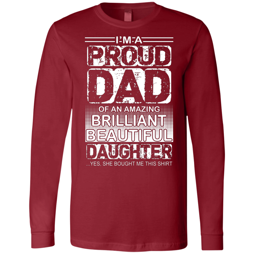 Proud dad of an amazing daughter AT0126 3501 Men's Jersey LS T-Shirt