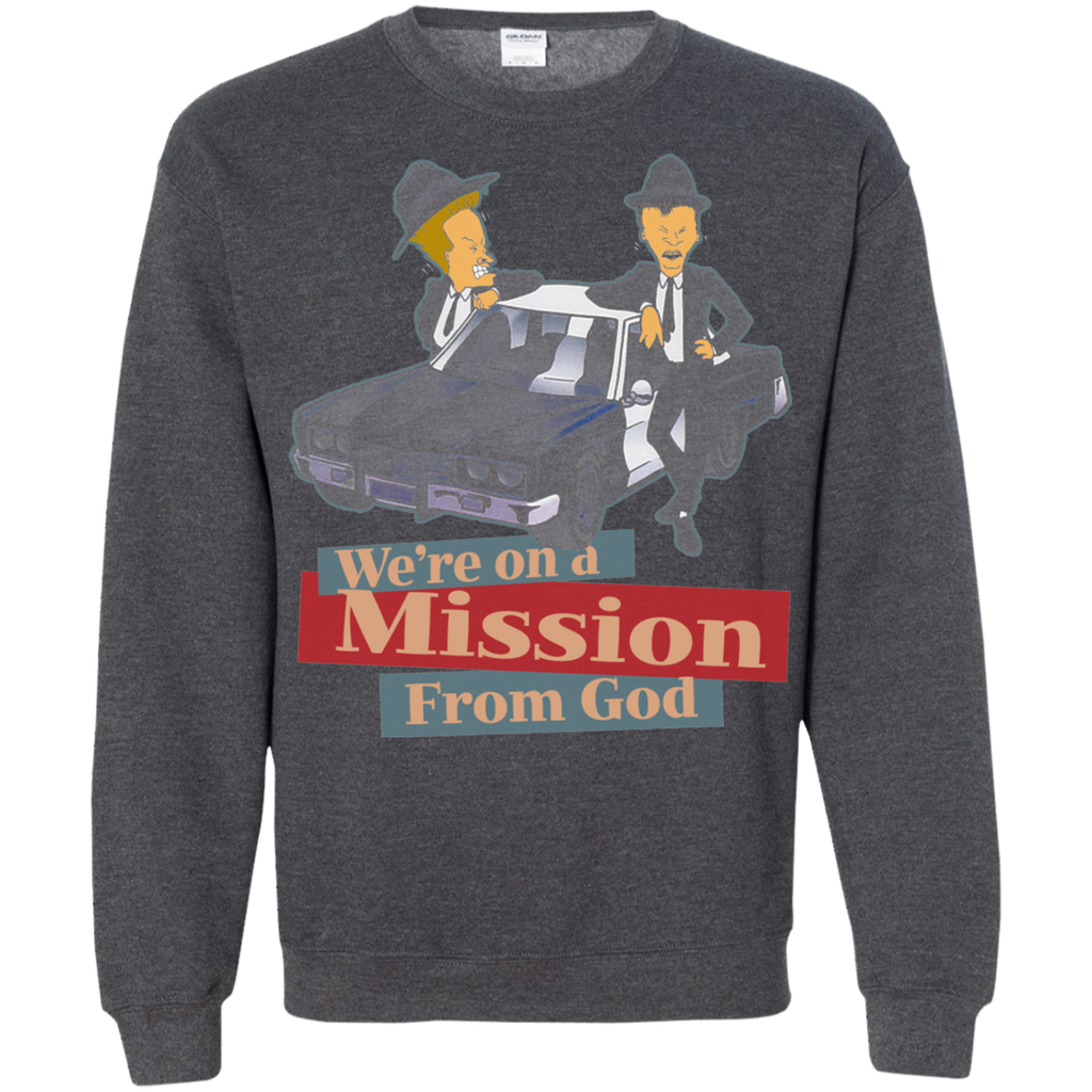 The Blues Brothers - BEAVIS AND BUTTHEAD G180 Crewneck Pullover Sweatshirt  8 oz.