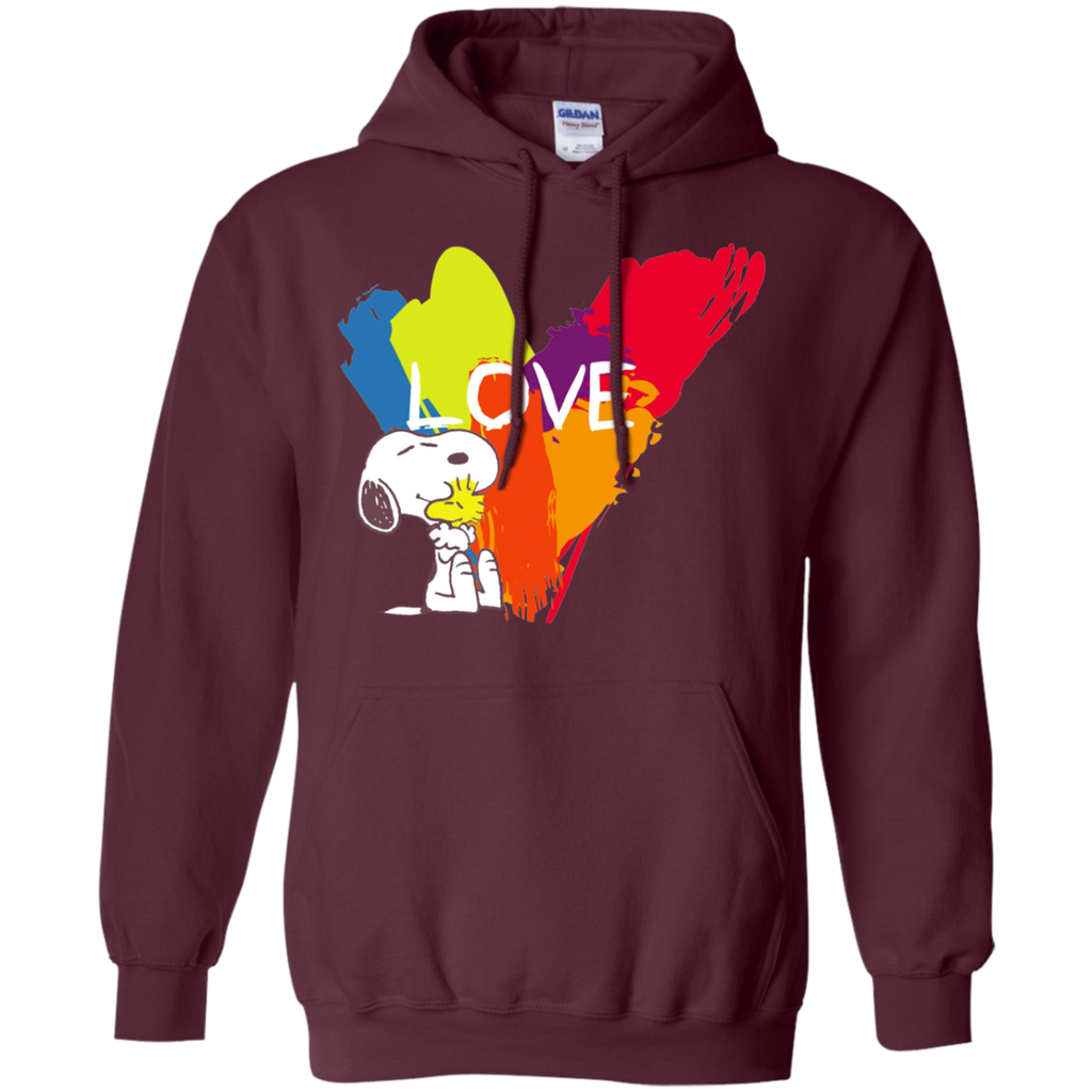 Snoopy Love G185 Pullover Hoodie 8 oz.