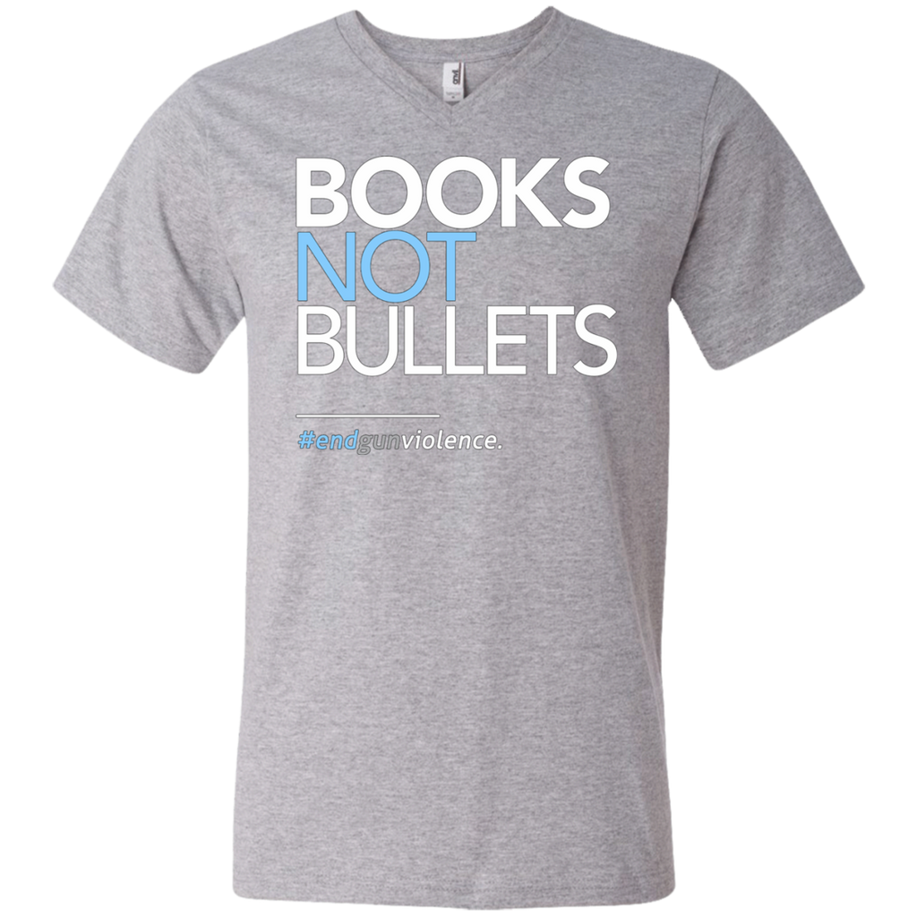 Books Not Bullets, March for Our Lives AT0110 982 Men's Printed V-Neck T-Shirt - OwlCube - Diamond Painting by Numbers