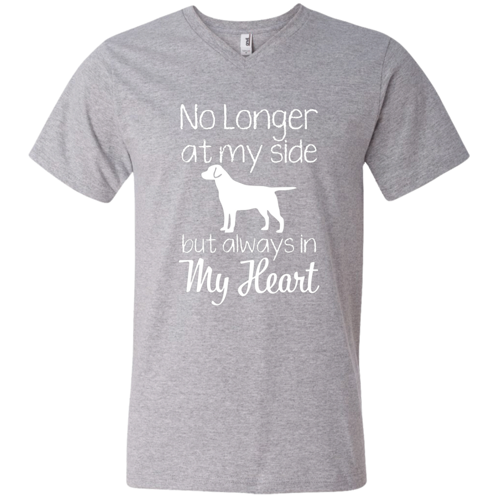 No Longer At My Side but always in my heart AT0073 982 Men's Printed V-Neck T-Shirt
