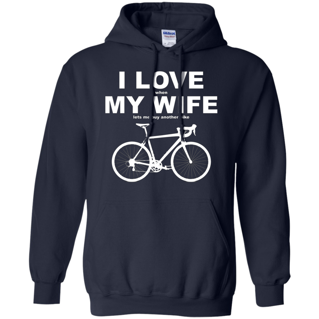 I LOVE MY WIFE AT0070 G185 Pullover Hoodie 8 oz.