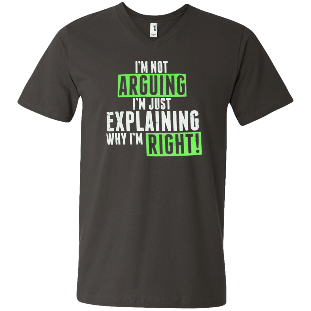 AT0020 I'm not arguing, I'm just explaining why I'm right 982 Men's Printed V-Neck T-Shirt - OwlCube - Diamond Painting by Numbers
