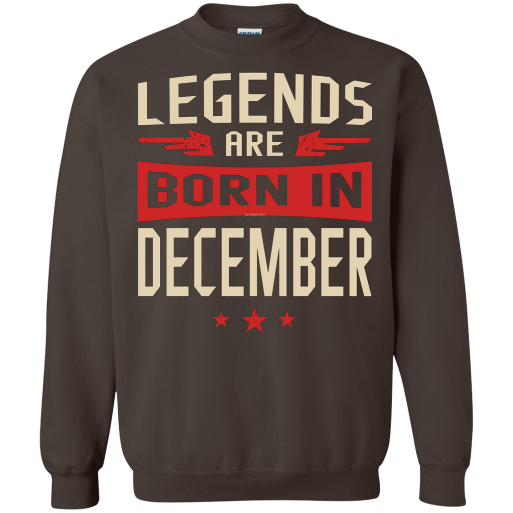 Legends Are Born in December AT0078 G180 Crewneck Pullover Sweatshirt  8 oz.