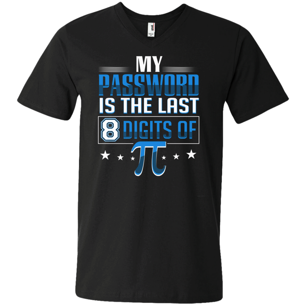 My Password Is The Last 8 Digits Of Pi AT0091 982 Men's Printed V-Neck T-Shirt