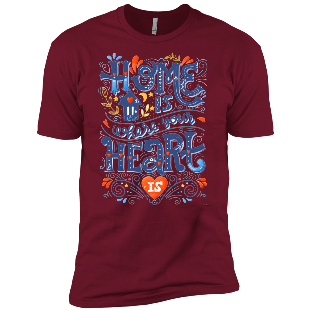 Home is where your heart is AT0103 NL3600 Premium Short Sleeve T-Shirt - OwlCube - Canvas Wall Art