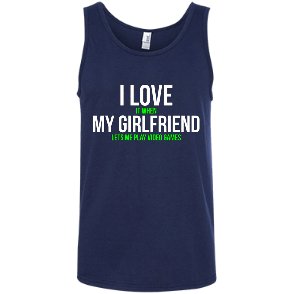 I love my girlfriend Funny Gamer AT0068 100% Ringspun Cotton Tank Top