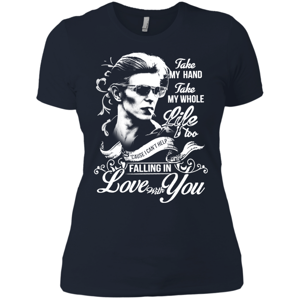 David Bowie Lovw - Falling in Love with you NL3900 Ladies' Boyfriend T-Shirt - OwlCube - Diamond Painting by Numbers