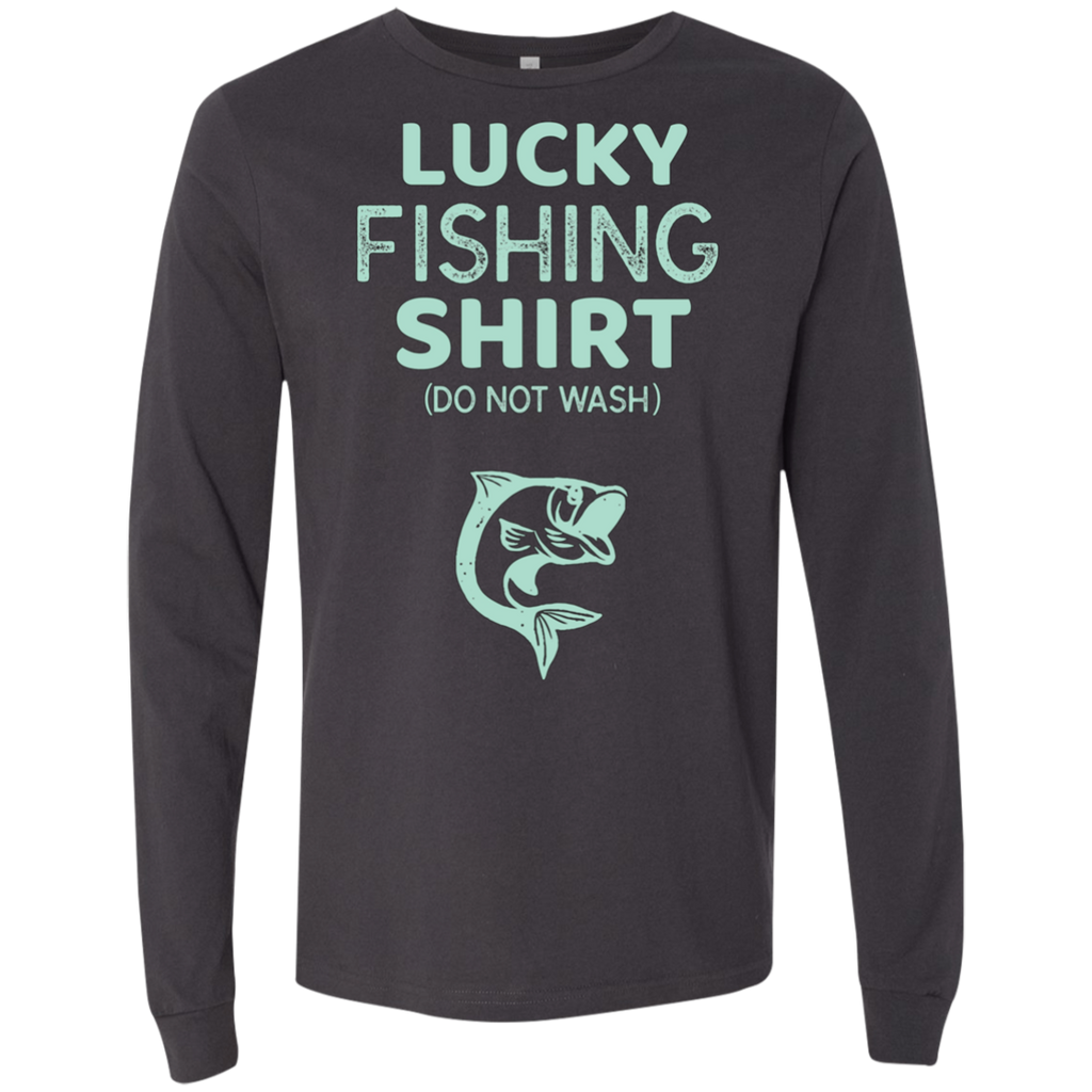Lucky Fishing Shirt Do Not Wash AT0086 3501 Men's Jersey LS T-Shirt