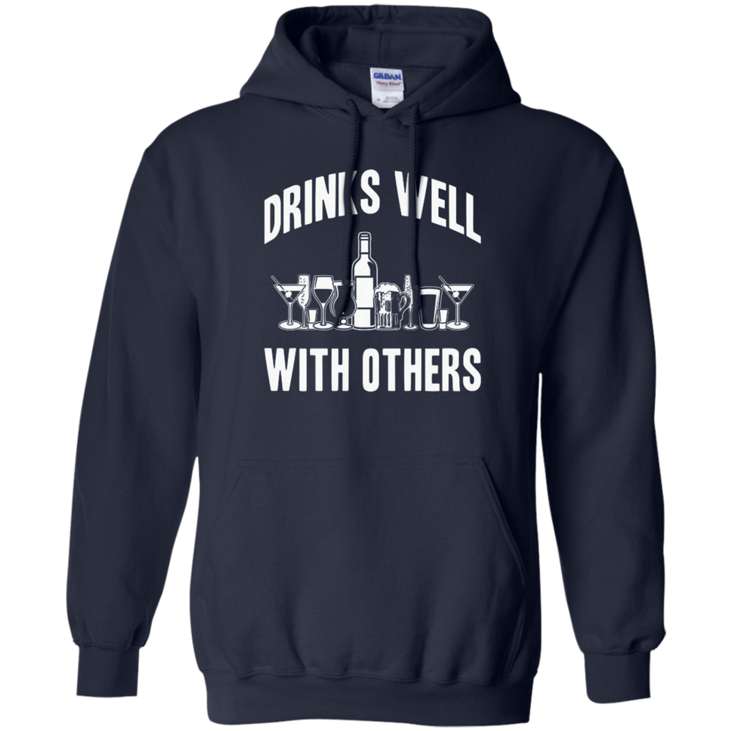 AT0004 Drinks Well With others G185 Pullover Hoodie 8 oz.
