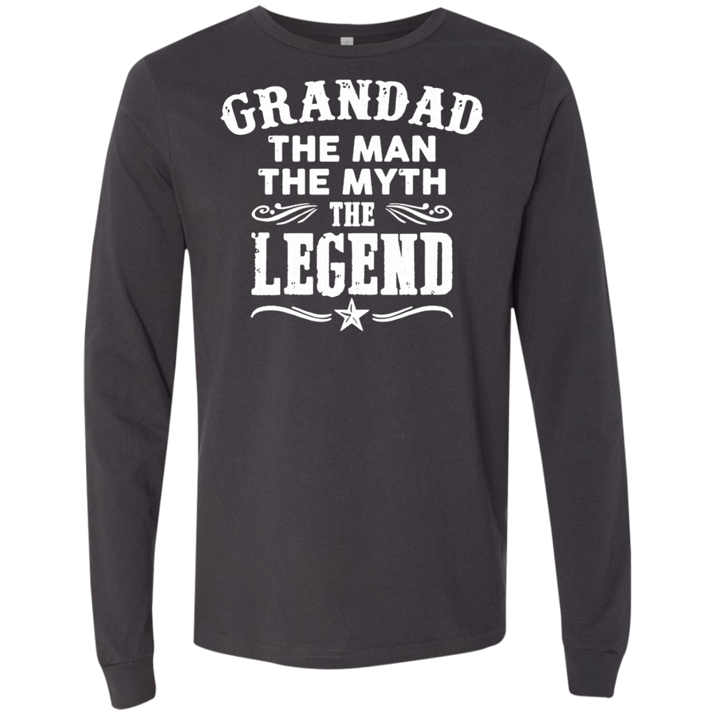 Grandad The Man The Myth The Legend AT0062 3501 Men's Jersey LS T-Shirt - OwlCube - Canvas Wall Art