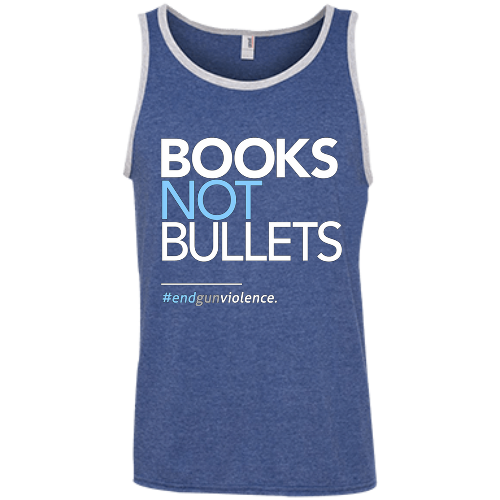 Books Not Bullets, March for Our Lives AT0110 100% Ringspun Cotton Tank Top - OwlCube - Diamond Painting by Numbers