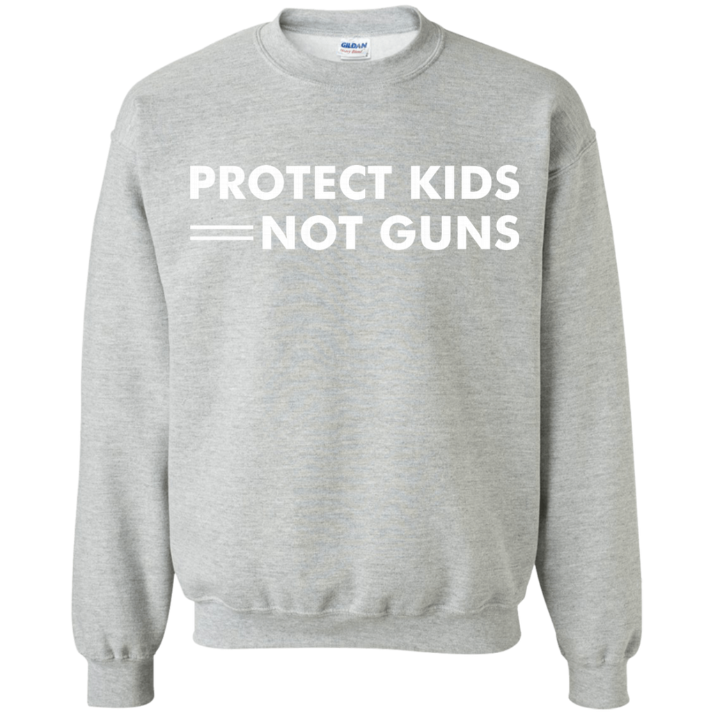 Protect Kids Not Guns AT0111 G180 Crewneck Pullover Sweatshirt  8 oz.