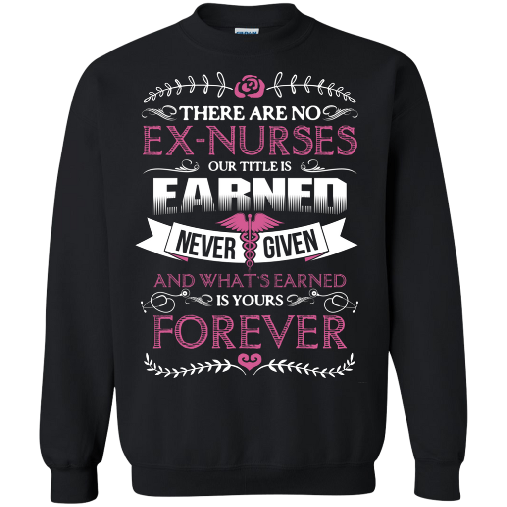 Nurse Forever AT0122 G180 Crewneck Pullover Sweatshirt  8 oz.