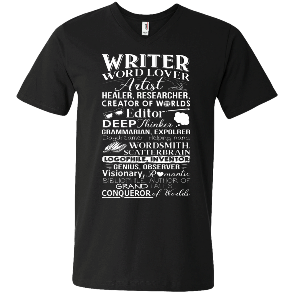 Writer Title Definition Meaning Author English Teacher AT0095 982 Men's Printed V-Neck T-Shirt
