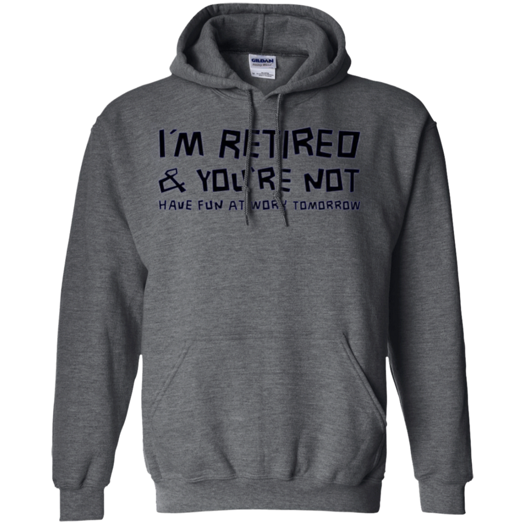 AT0022 I'm Retired You're Not Have Fun at Work Tomorrow G185 Pullover Hoodie 8 oz. - OwlCube - Diamond Painting by Numbers