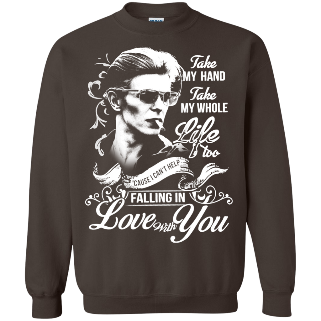 David Bowie Lovw - Falling in Love with you G180 Crewneck Pullover Sweatshirt  8 oz. - OwlCube - Diamond Painting by Numbers