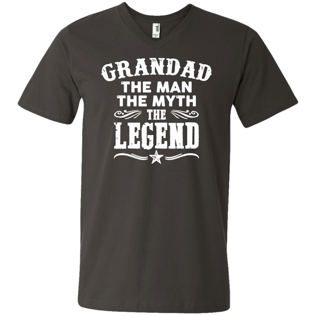 Grandad The Man The Myth The Legend AT0062 982 Men's Printed V-Neck T-Shirt - OwlCube - Canvas Wall Art