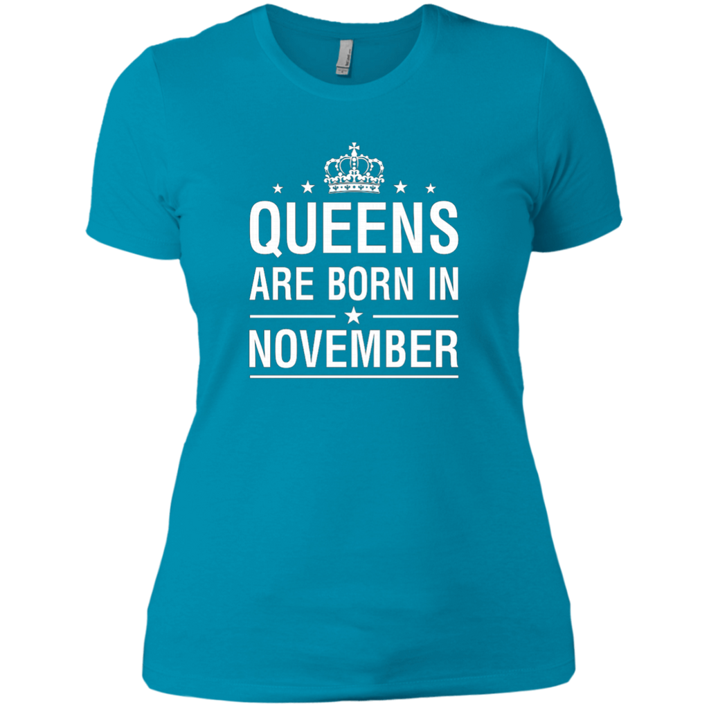 Queens Are Born In November AT0094 NL3900 Ladies' Boyfriend T-Shirt